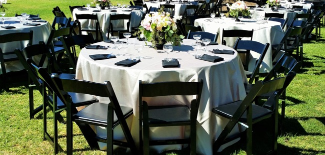 Black Wooden Folding Chair Wedding ...