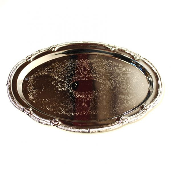Chrome-Serving-Tray-Oval-18in-x-13in