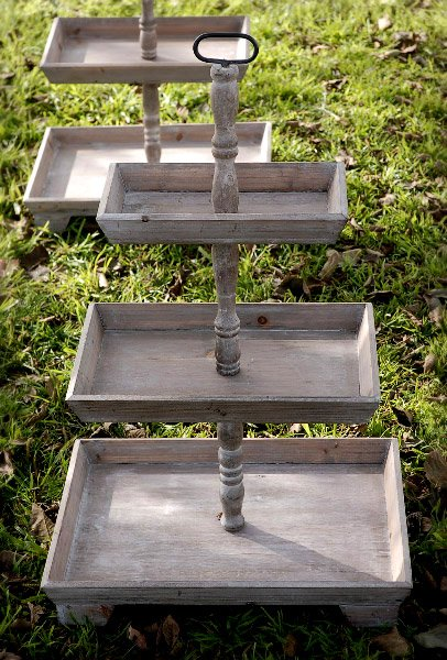 3 tier rustic serving tray