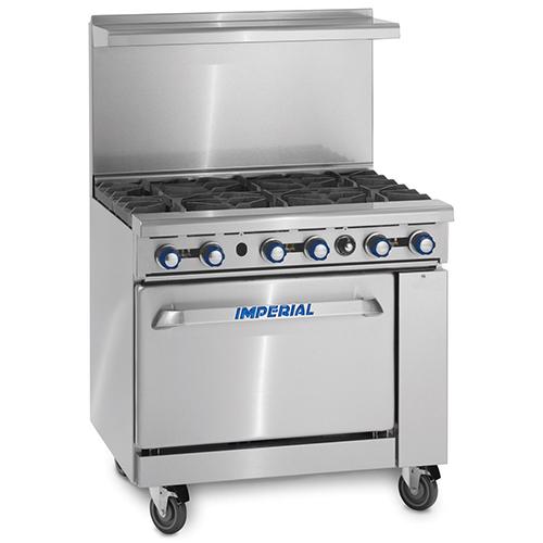 6 Burner Range With Oven