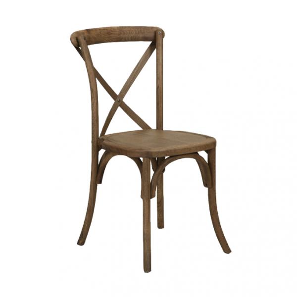 Vineyard X Back Oak Chair