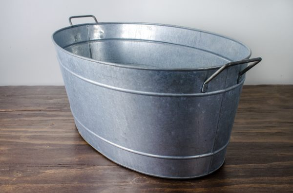 Bar- tub oval galvanized