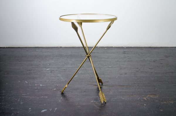 Louge Furniture Side table gold arrow