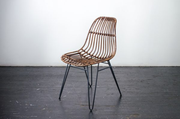 Lounge Furniture- Chair Rattan With Steel Legs
