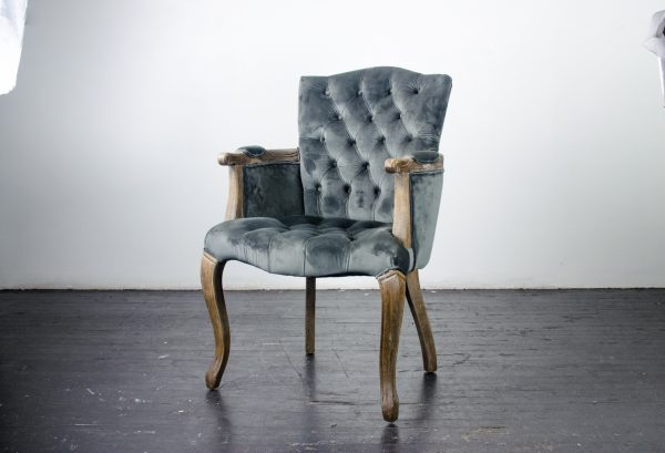 Lounge Furniture- Velvet Arm Chair Charcoal