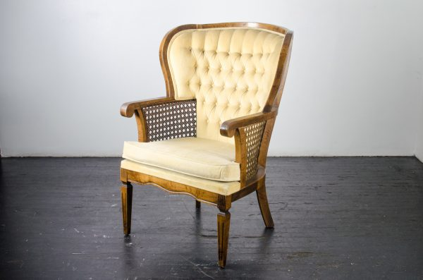 Lounge Furniture- Vintage Cane Arm Chair Buttercup