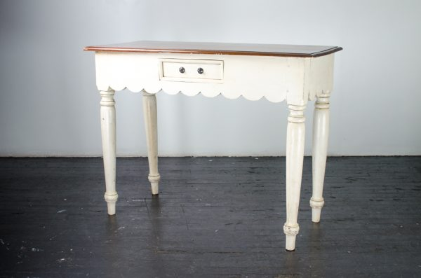 Lounge furniture- console table cream walnut top