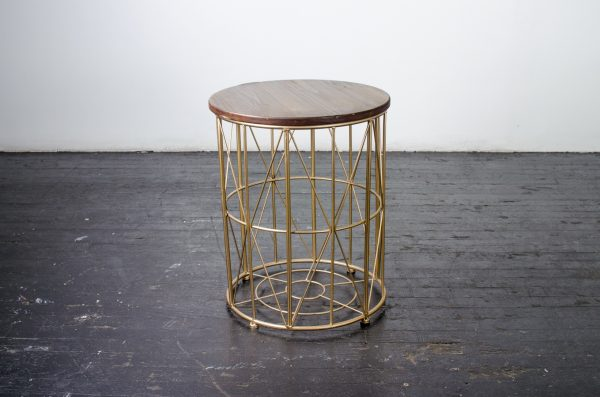 Lounge- side table industrial gold