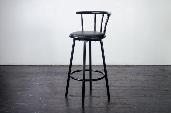 events-weddings barstool black swivel with backing