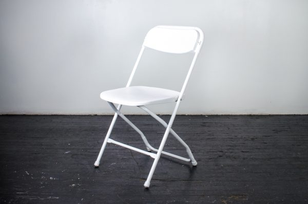 events-weddings folding chair white