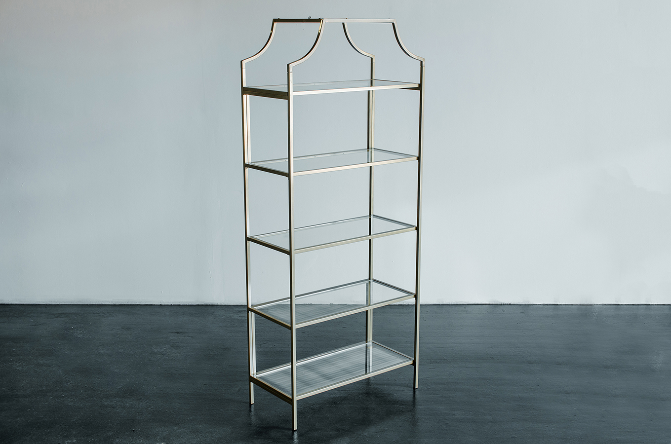 Back Bar Shelf, Gabriella Gold | Amigo Party Rentals, Inc.