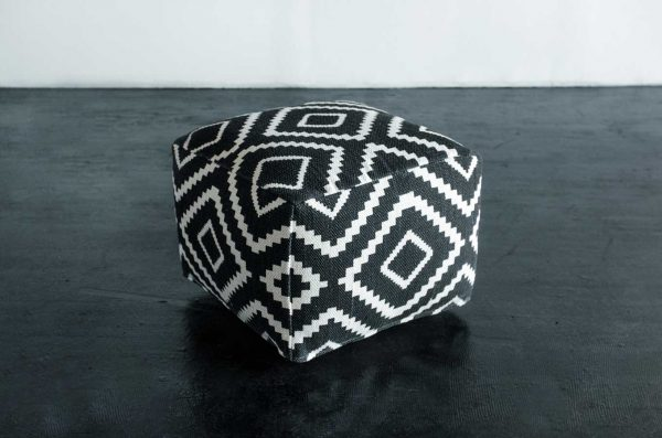 Pouf, Giometric Black & White