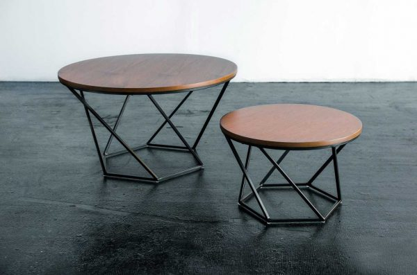 Coffee Table, 2 Piece Set Donna Wood Top