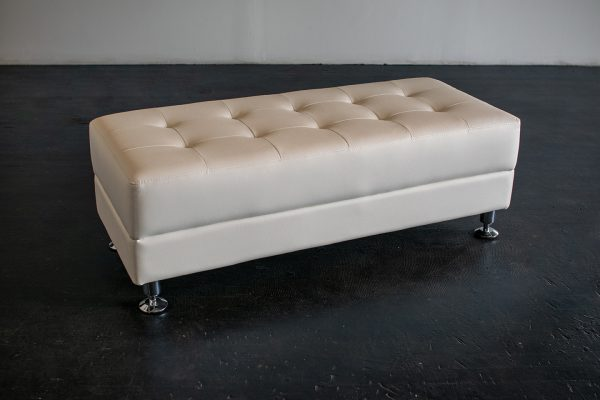 Ottoman, Rectangular Modern White (Turted)