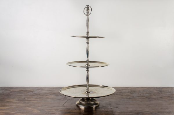 Pastry stand, stainless 3- tier