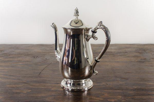 tea pot, silver plated