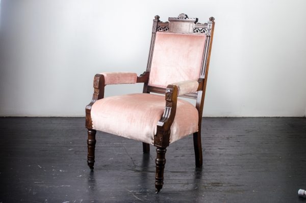 Lounge Furniture Vintage Chair Set (king & Queen) Blush