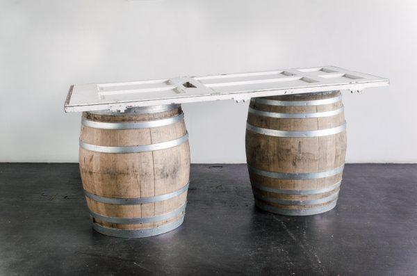 Lounge Furniture- bar mismatch door wine barrel