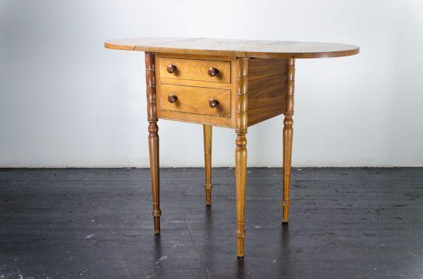Lounge Furniture- vintage oval wood table