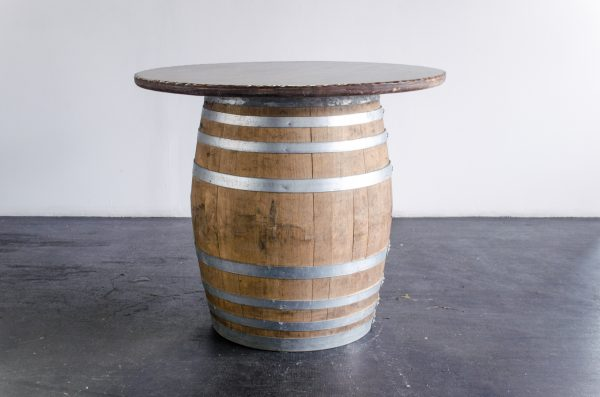 cocktail pueblo top wine barrel table