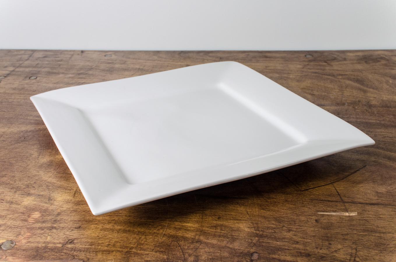 Serving Platter Whittier White 16 Sqr Amigo Party Rentals Inc