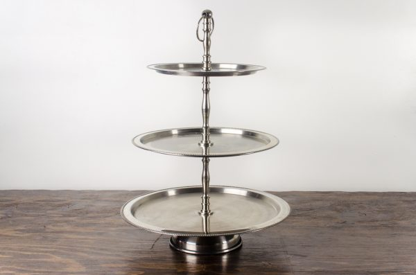 Pastry stand, beaded stainless