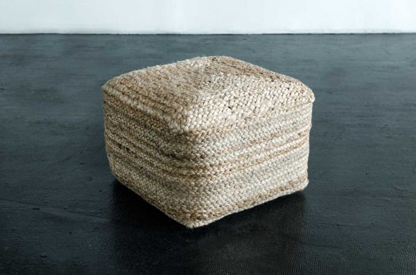 Pouf, Jute Natural Square