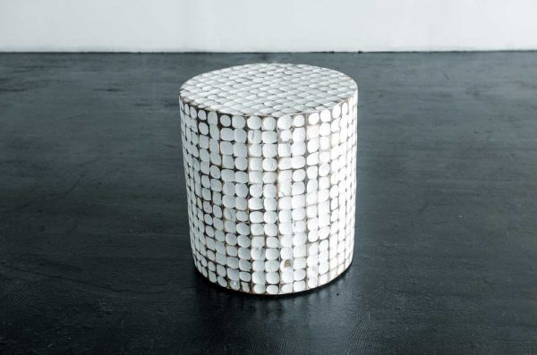 Side Table, Saleen White