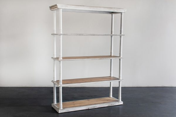 Bar Back Shelf, White Wash