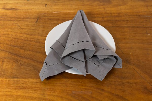 Napkin, Hemstitch Grey