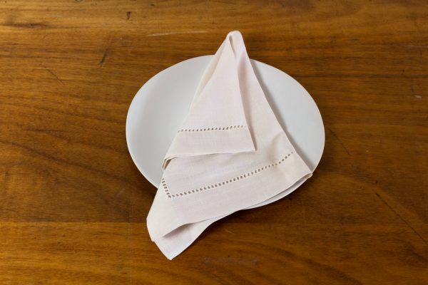 Napkin, Hemstitch Off White
