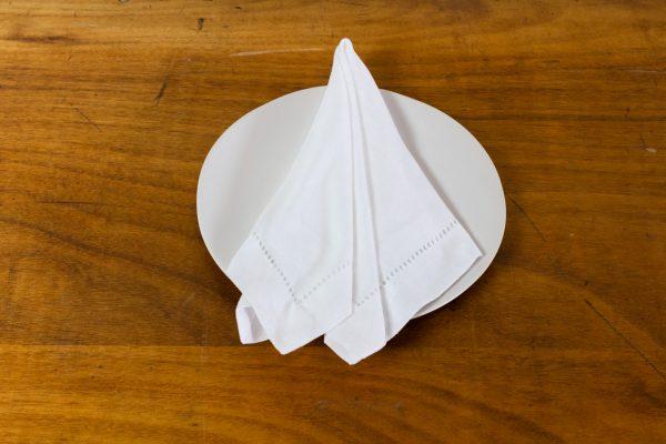 Napkin, Hemstitch White