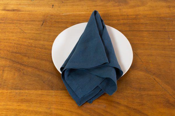 Napkin, Indigo Blue Linen