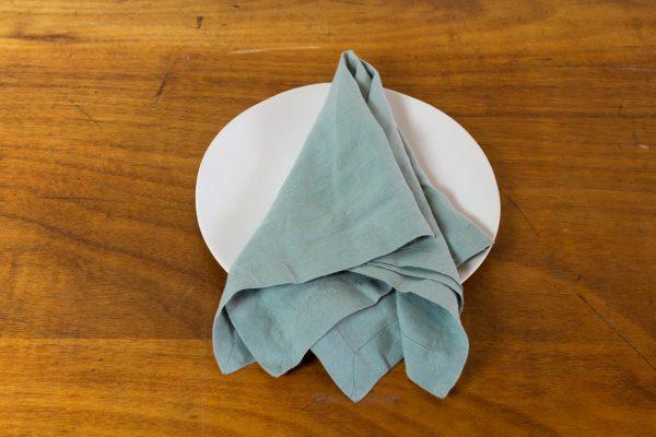 Napkin, Jadeite Green Linen