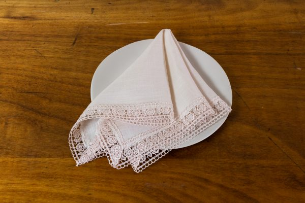 Napkin, Sevilla Lace Off White