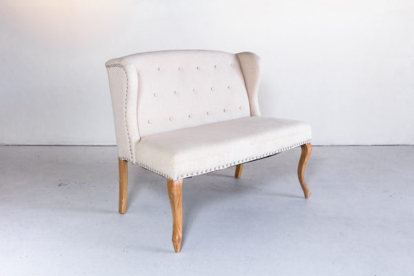 Settee, Eva Tufted Natural