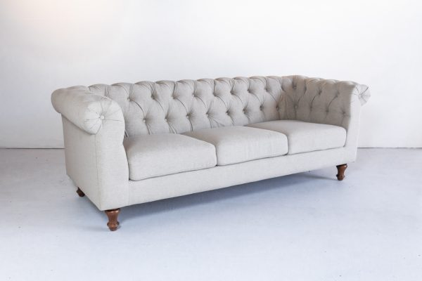 Sofa, Beige Tufted