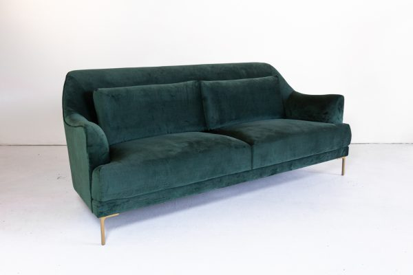Sofa, Forest Green Velvet