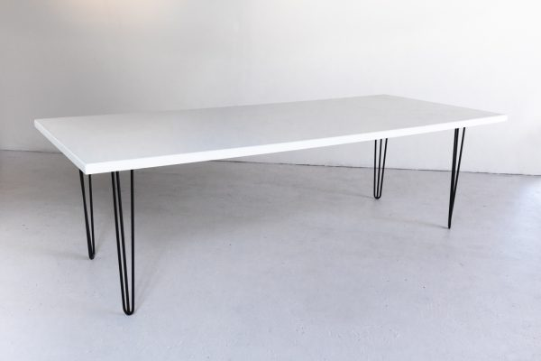 "Table, Modern White 40""x8′"