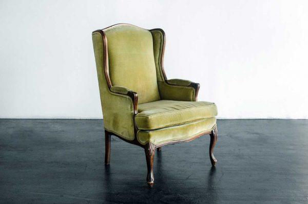 Vintage chair, Olive Velvet